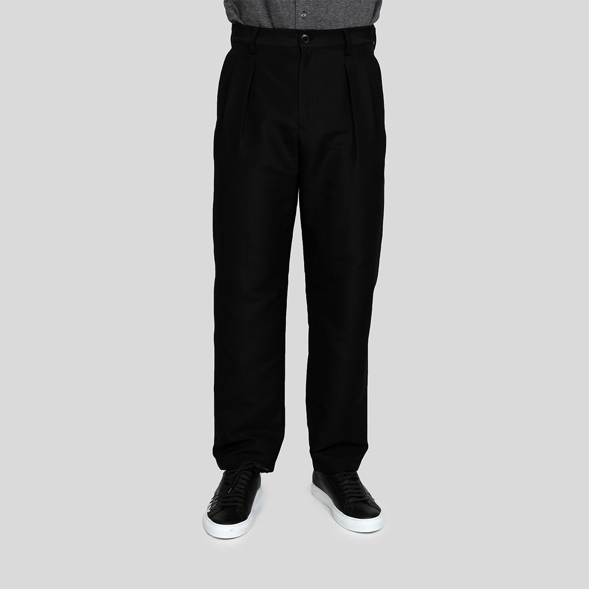 Valentino ヴァレンティノ ブラック ルーズ フィット パンツ Black Loose-Fit Trousers