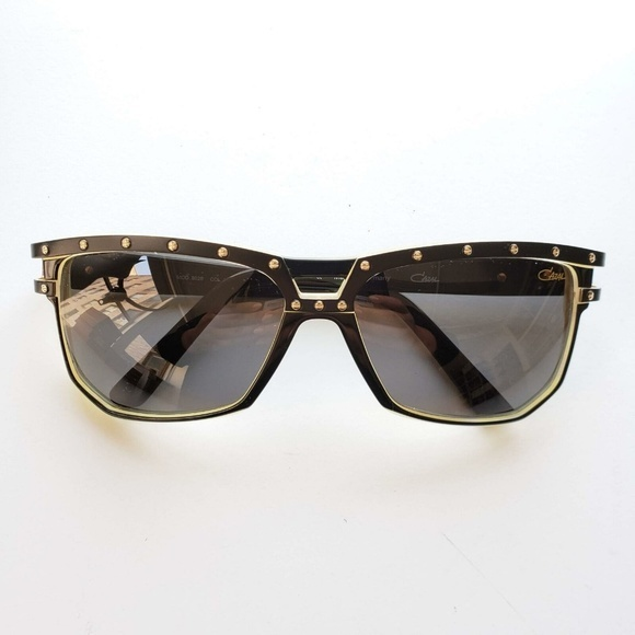 Cazal カザール 8028 002 グラディエント サングラス ブラック アイボリー 8028 002 Gradient Sunglasses Black/Ivory