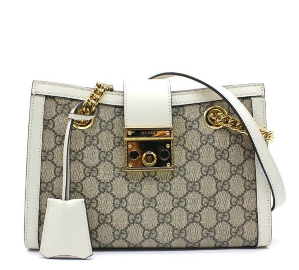 Gucciシグネチャーデザイン GGロゴ 特別セール品 X パドロックデザイン ハンドバッグ Gucci グッチ GG SMALL ホワイト プレゼント SHOULDER パドロック PADLOCK BAG スモールショルダーバッグ White