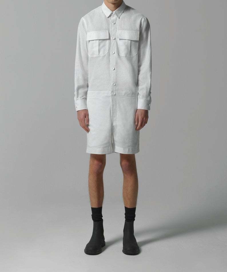 100%ハンドメイドの新規高級ブランドMACLOU VISALTES ヴィサルテス リネン メンズ ジャンプスーツ Overalls 高品質 オーバーオール Men's Jumpsuit Linen アウトレット