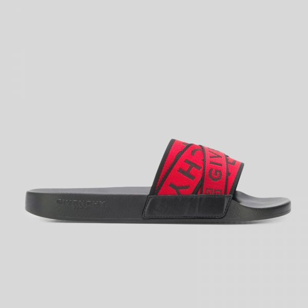 Givenchy ジバンシー 4G ウェビングサンダル レザーアンドラバー 4G Webbing Sandals in Leather and Rubber