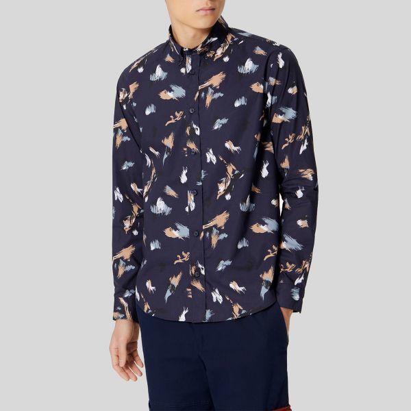 個性があってトレンディな大人気ブランドです Kenzo ケンゾー ブラッシュ ストローク カジュアル 限定価格セール シャツ Shirt Casual Brush Stroke' 誕生日/お祝い
