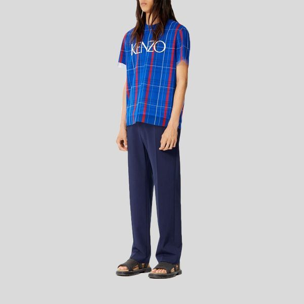 KENZO ケンゾー デュアルマテリアル チェック Tシャツ Dual Material Checked T-shirt