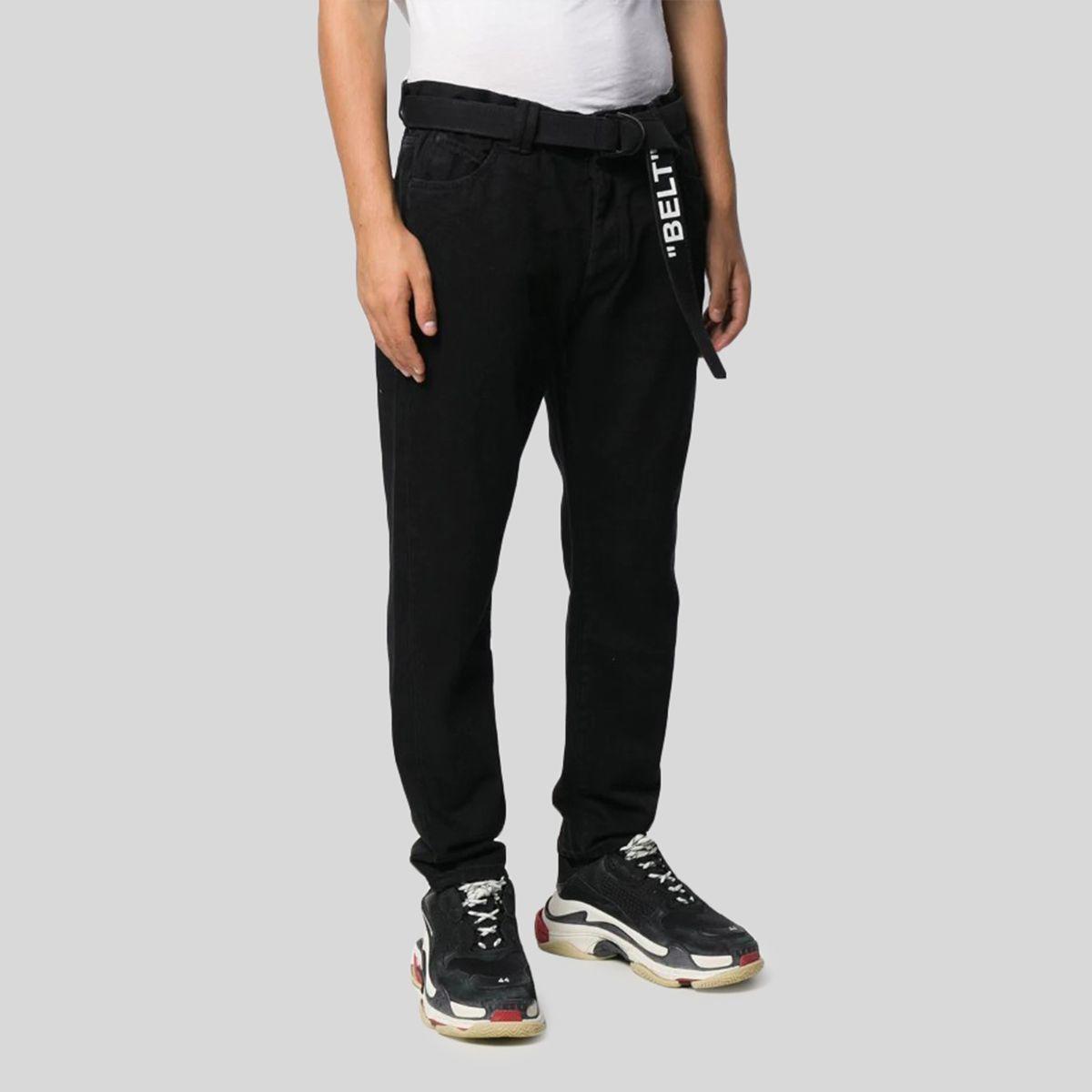 offwhite オフホワイト ドロップ クロッチ ブラック デニムジーンズ Dropped Crotch Black Denim Jeans