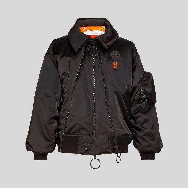 off white オフホワイト スカーフォルディング ブラック ボンバージャケット Scaffolding Black Bomber Jacket