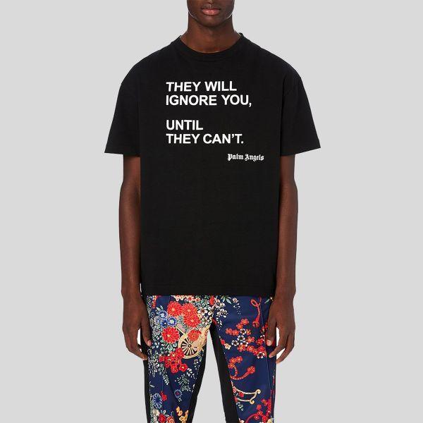 Palm Angels パーム・エンジェルス シーゾナル ブラック ティーシャツ Seasonal Black T-Shirt