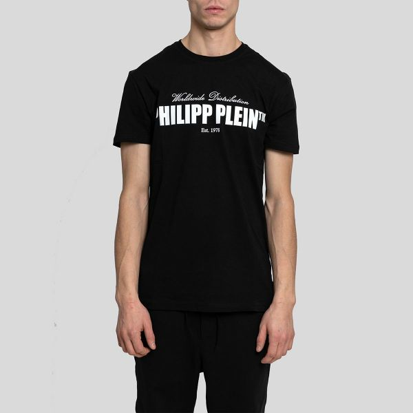 Philipp Plein フィリップ・プレイン ロゴプリント ショートスリーブ Tシャツ Logo Print Short Sleeve T-Shirt