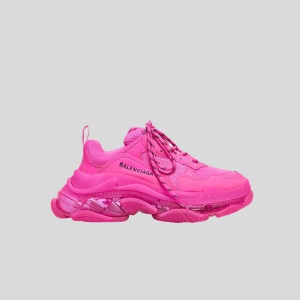 BALENCIAGA バレンシアガ トリプルエストレーナークリアソール-ピンク Triple S Trainer Clear Sole - Pink