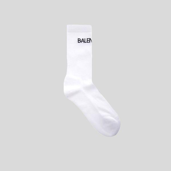 BALENCIAGA バレンシアガ ロゴテニス ソックス ホワイト Logo Tennis Socks -White