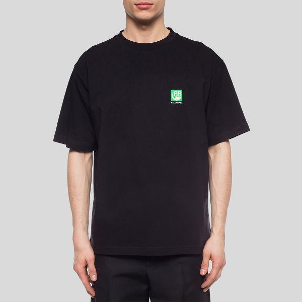 BALENCIAGA バレンシアガ BBロゴプリントティーシャツ BB Logo Printed T-Shirt