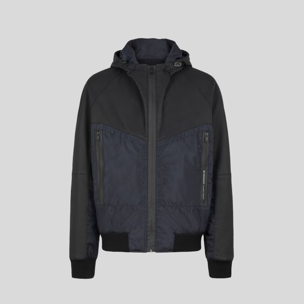 GIVENCHY ジバンシー ジャケット イン レザー アンド ナイロン Jacket In Leather And Nylon