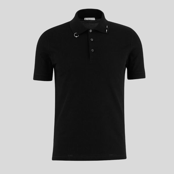 GIVENCHY ジバンシー ピアシング ポロシャツ イン ブラック Piercing Polo Shirt In Black