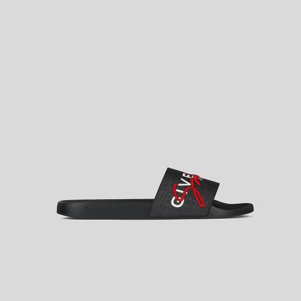 GIVENCHY ジバンシー フラットサンダル インコートキャンバス Flat Sandals In Coated Canvas