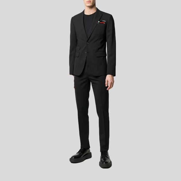 DSQUARED2 ディースクエアード ブラックシングルブレストテーラードスーツ Black Single Breasted Tailored Suit