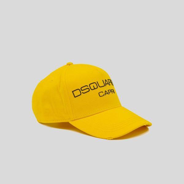 DSQUARED2 ディースクエアード イエロージョキーキャップ Yellow Jokey Cap