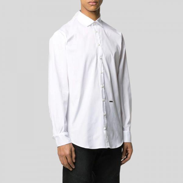 DSQUARED2 ディースクエアード ホワイトロゴプラークシャツ White Logo Plaque Shirt