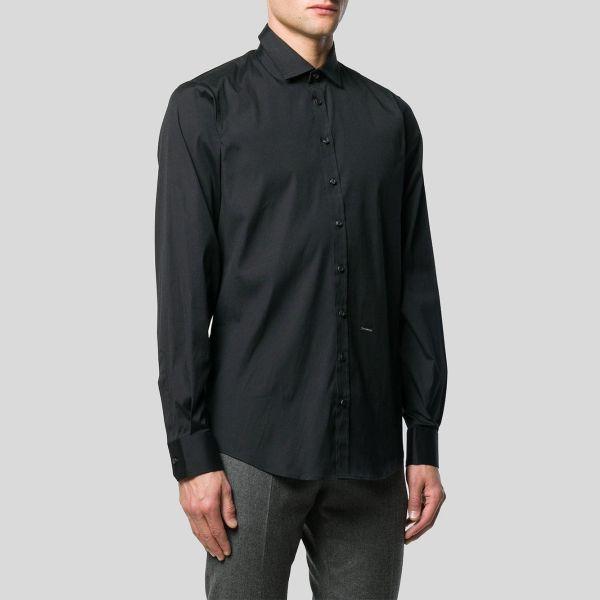 DSQUARED2 ディースクエアード ブラッククラシックシャツ Black Classic Shirt