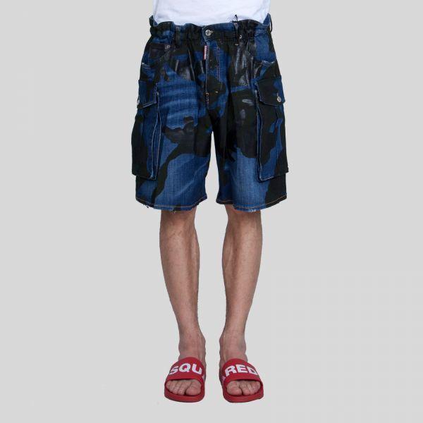 DSQUARED2 ディースクエアード カモクールガイデニムショーツ Camo Cool Guy Denim Shorts