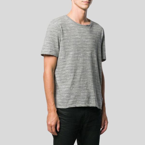 SAINT LAURENT サンローラン モノグラムTシャツ インジャージー ウィズ ストライプ Monogram T-Shirt In Jersey With Lam・・ Stripes
