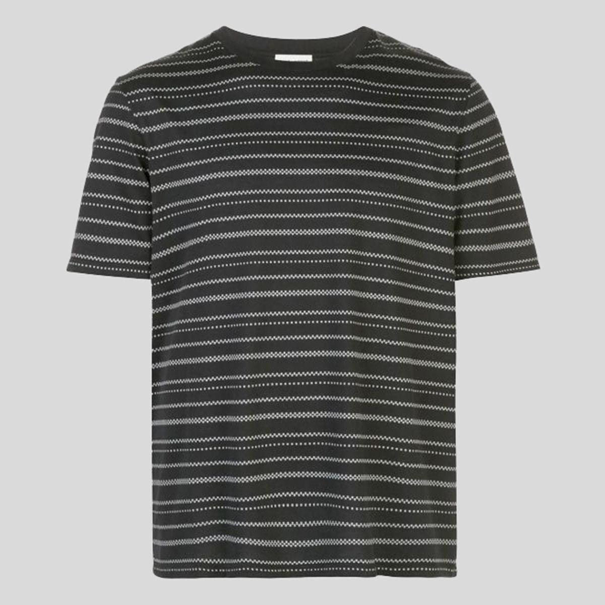 SAINT LAURENT サンローラン ジオメトリック ストライプTシャツ Geometric Striped T-Shirt