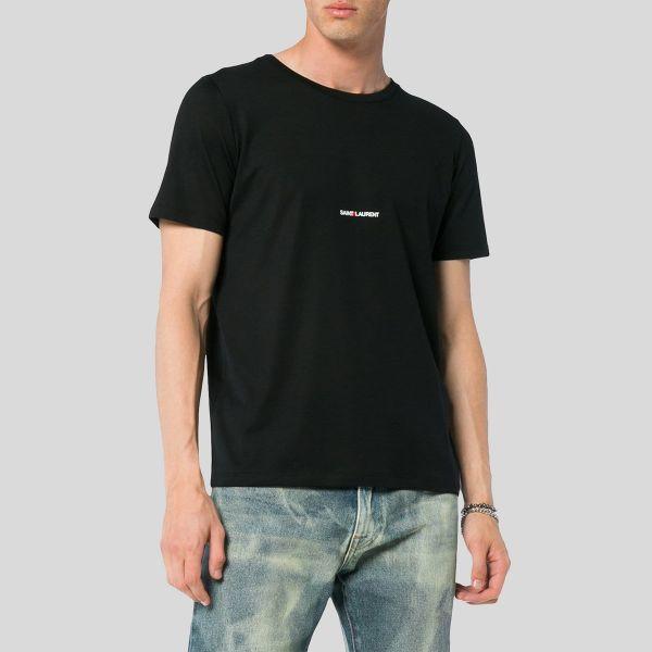 SAINT LAURENT サンローラン ブラックサンローラン シグネチャーTシャツ Black Saint Laurent Signature T-Shirt