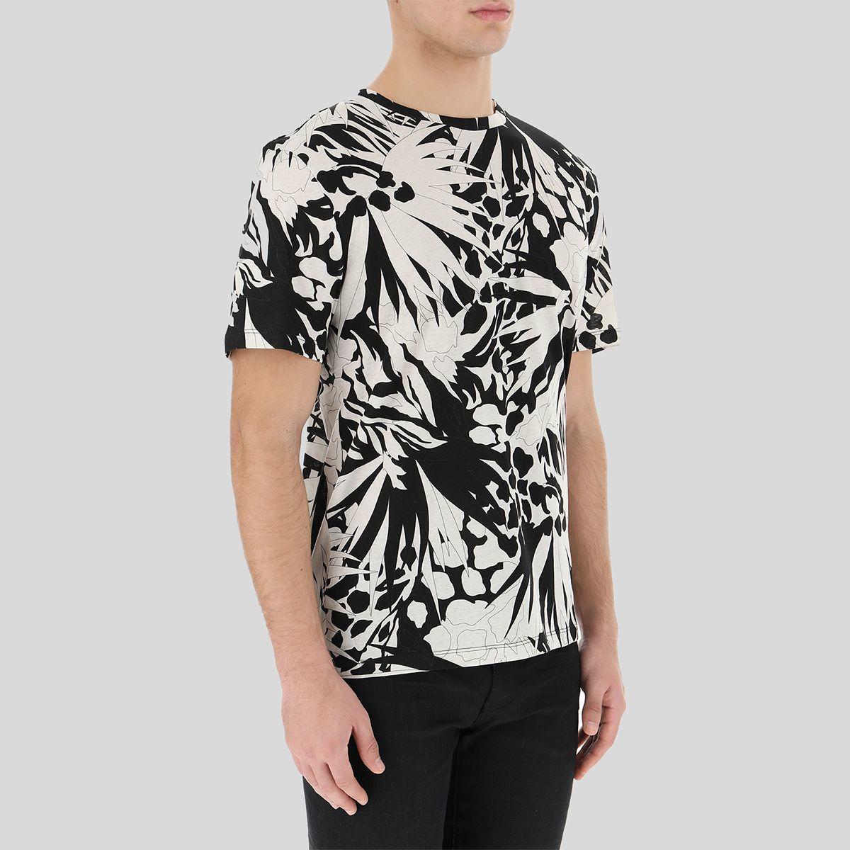 SAINT LAURENT サンローラン ジャングルフラワーTシャツ Jungle Flower T-Shirt