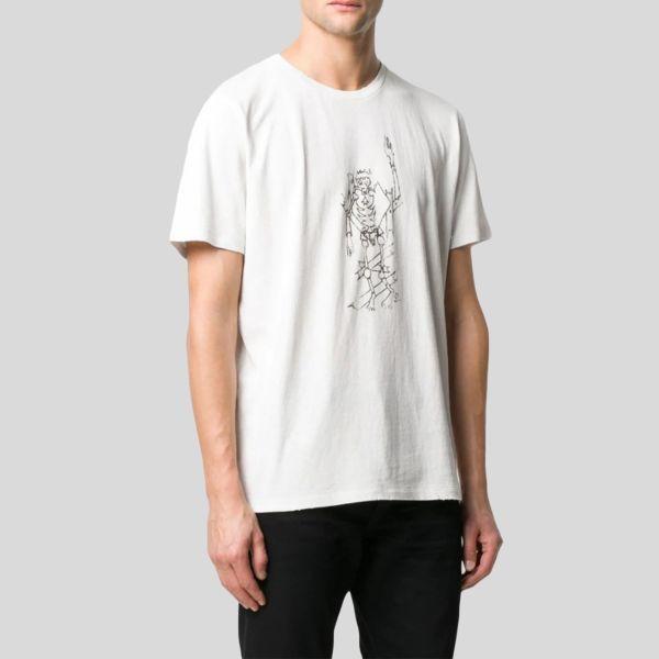 SAINT LAURENT サンローラン デストロイ スケルトン プリントTシャツ Destroyed Skeleton Print T-shirt