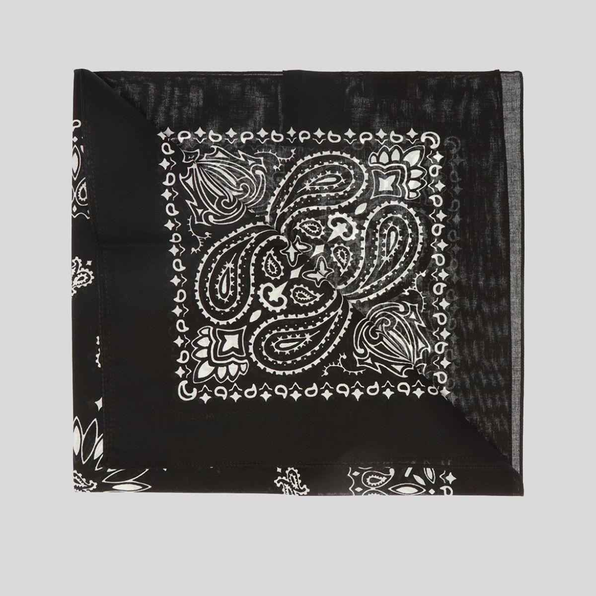 SAINT LAURENT サンローラン バンダナ スクエアスカーフ イン ペイズリー プリント コットン Bandana Square Scarf In Paisley Printed Cotton