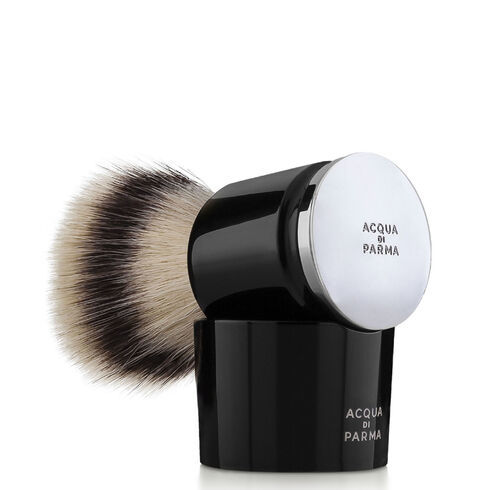 完璧なシェービングのための 手作り髭ブラシ ACQUA DI PARMA アクア ディ BLACK 海外限定 SHAVING パルマ BRUSH ブラック シェービング ブラシ 物品