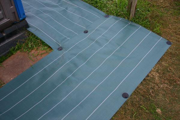 ダイオ化成 高密度防草シート 緑