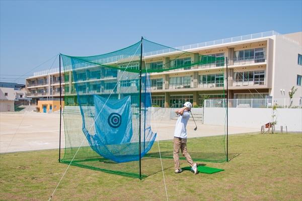 【ダイオ化成】【スポーツ練習】【ゴルフ】【バッティング】スポーツネット「全球入魂」サイズ:3m×3m×3m  色:緑 網目:約25mm的、補助ネット同梱※支柱はセットに含まれません※【代引き対象外】