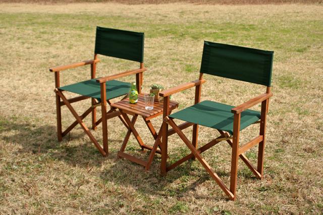 コンパクトガーデン3点セット グリーン ガーデニング チェア 椅子 送料無料 激安セール アウトレット価格