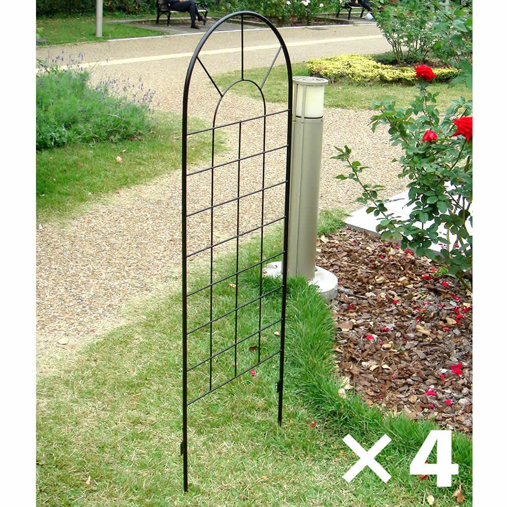 アイアンフェンス120(4枚組) YBIF-120-4P ガーデニング イングリッシュ ガーデン 庭 玄関 屋外 おしゃれ オシャレ アイアン