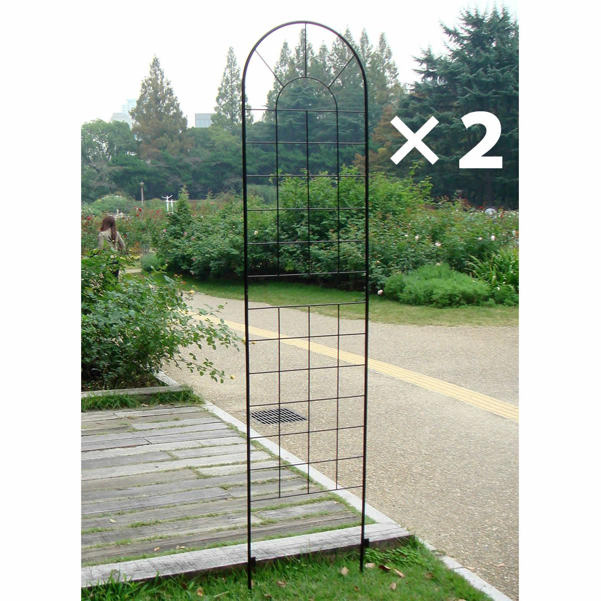 アイアンフェンス220(2枚組) YBIF-220-2P ガーデニング イングリッシュ ガーデン 庭 玄関 屋外 おしゃれ オシャレ アイアン