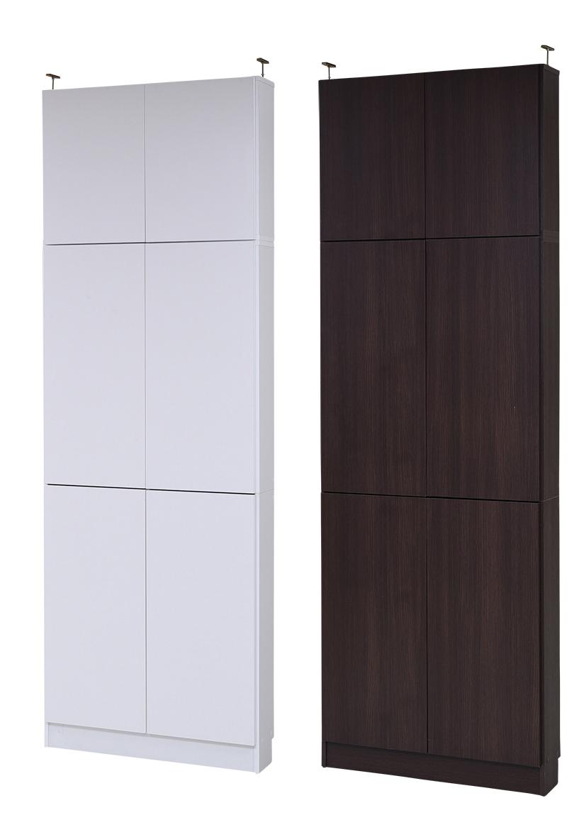 MEMORIA 棚板が1cmピッチで可動する 薄型扉付幅81 上置きセット 送料無料 激安セール アウトレット価格