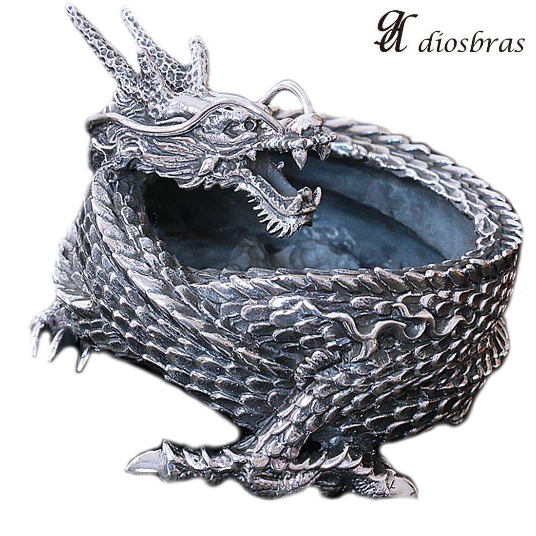 ドラゴン 竜 龍 灰皿 アッシュトレイ ZIPPO ジッポ シルバー925 スターリングシルバー