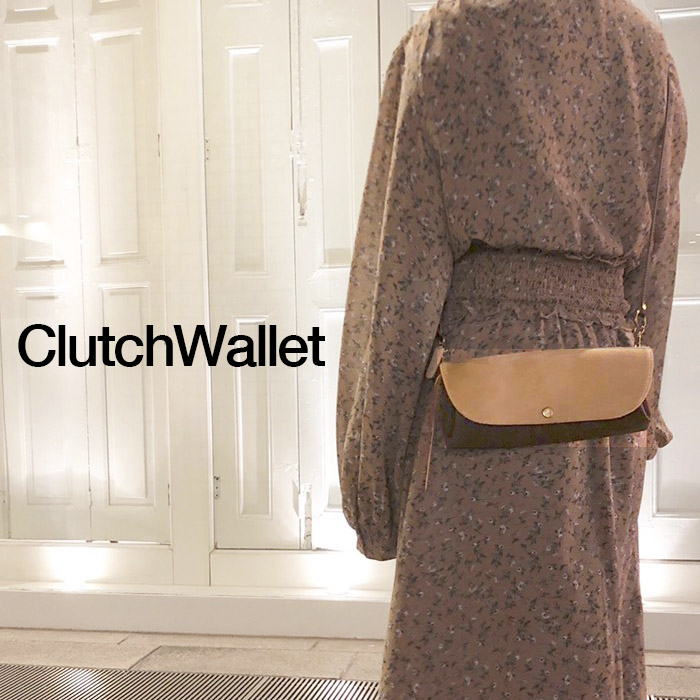 お財布ポシェット (ハラコ) レディース(ママ)本革 ショルダー 財布 ポシェット 【レザー】ショルダーストラップで斜めがけができるオシャレでかわいい クラッチウォレット,小ぶりな軽量なクラッチバッグとしても,マザーバッグと共に シルバーのお財布ショルダーも日本製
