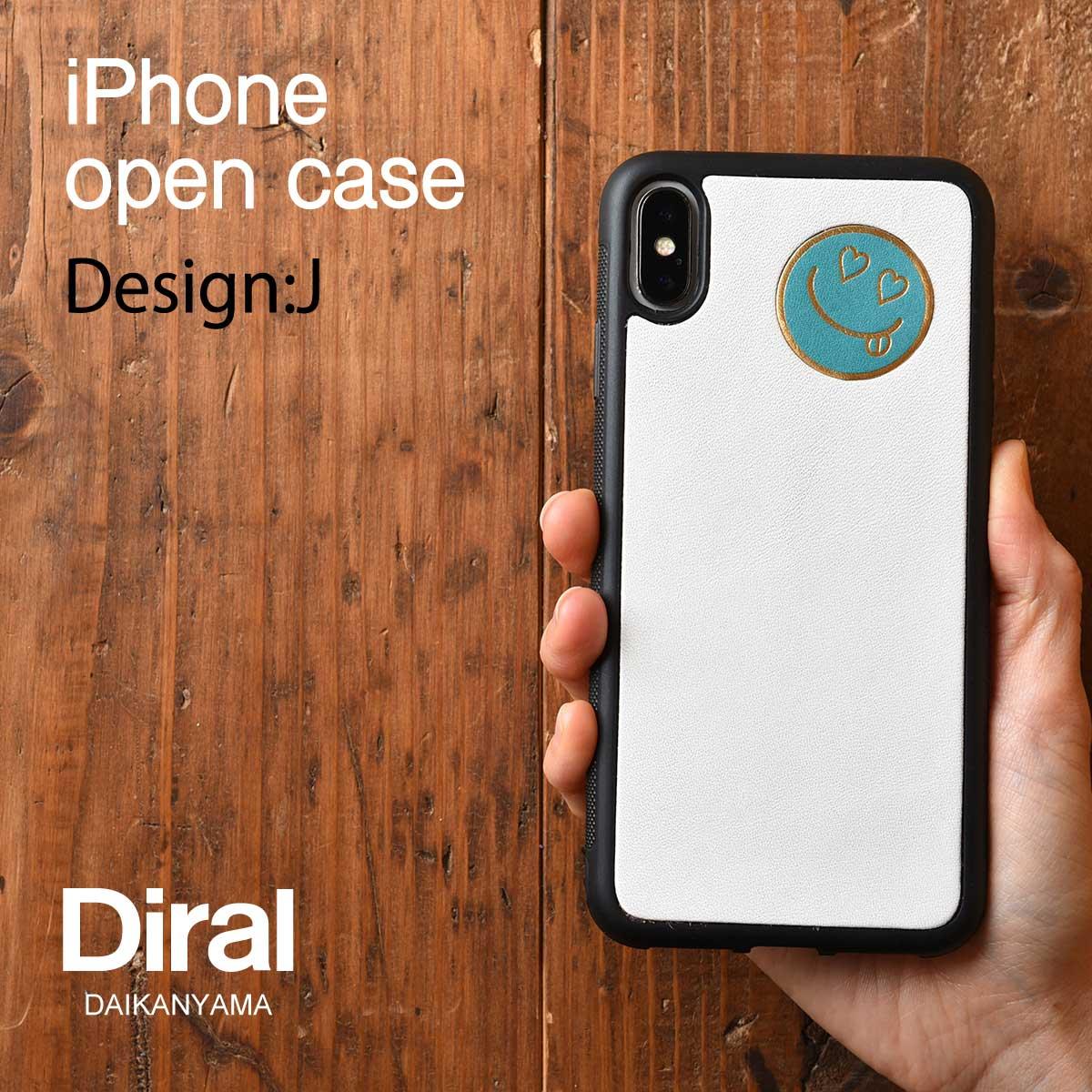 好みのデザインパターンから自由にカスタマイズ 誰ともかぶらない 一つだけのiPhoneケースが作れます Design 売り込み J マーク埋込み iPhoneケース メーカー在庫限り品 iPhoneオープンタイプケース オーダー 名入れカスタム スマイル右上