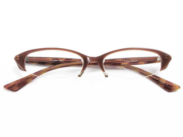 メガネ 度付き/度なし/伊達メガネ レイジーレッド(LAZY RED) 金子眼鏡 ブラウン オーバル スクエア セルフレーム(プラスチック) ナイロール ハンドメイド メガネセット LR3068 BRX【薄型レンズ付】【送料無料】