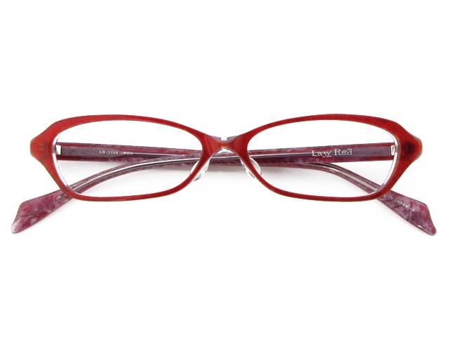 メガネ 度付き/度なし/伊達メガネ レイジーレッド(LAZY RED) 金子眼鏡 レッド オーバル スクエア セルフレーム(プラスチック) ハンドメイド メガネセット LR3104 RDX【薄型レンズ付】【送料無料】