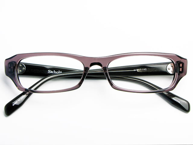 メガネ 度付き/度なし/伊達メガネ スコレー(SKHOLE) 金子眼鏡 セルフレーム(プラスチック) スクエア グレー ハンドメイド メガネセット SK6041-4【薄型レンズ付】【送料無料】