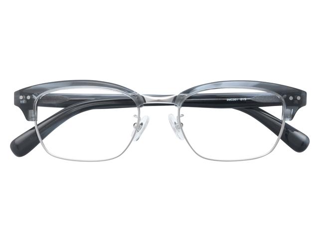 メガネ 度付き/度なし/伊達メガネ セルフレーム(プラスチック) ウェリントン ウエリントン グレー サーモント ブロー メガネセット 9MC001-GYS【金子眼鏡】【薄型レンズ付】【ケース付】【送料無料】