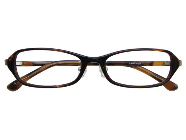 メガネ 度付き/度なし/伊達メガネ セルフレーム(プラスチック) スクエア 超軽量弾性樹脂 TR-90 デミ(ブラウン) メガネセット 9UP002-DEMI【金子眼鏡】【薄型レンズ付】【ケース付】【送料無料】