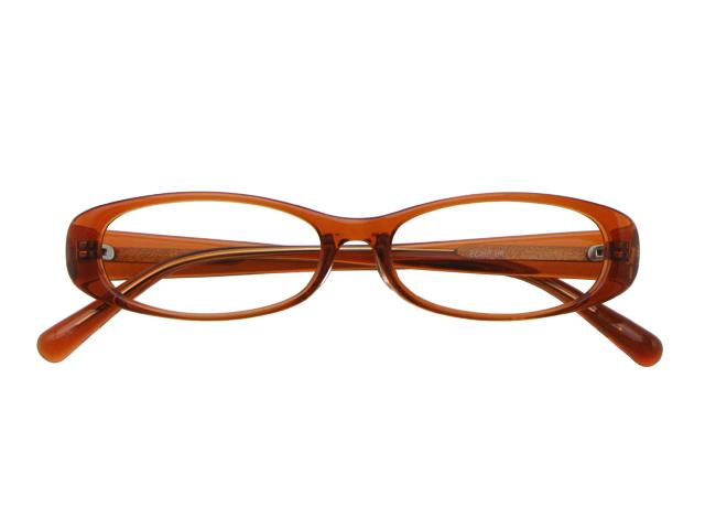 メガネ 度付き/度なし/伊達メガネ セルフレーム(プラスチック) オーバル オレンジ メガネセット EC007-OR【金子眼鏡】【薄型レンズ付】【ケース付】【送料無料】