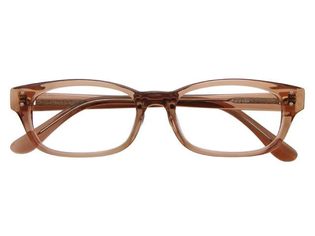 メガネ 度付き/度なし/伊達メガネ セルフレーム(プラスチック) ウェリントン ウエリントン クリアブラウン メガネセット EC010-CBR【金子眼鏡】【薄型レンズ付】【ケース付】【送料無料】
