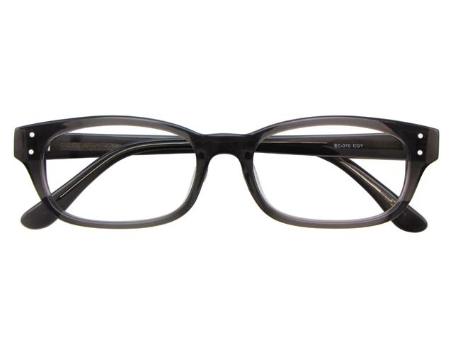 メガネ 度付き/度なし/伊達メガネ セルフレーム(プラスチック) ウェリントン ウエリントン クリアグレー メガネセット EC010-CGY【金子眼鏡】【薄型レンズ付】【ケース付】【送料無料】
