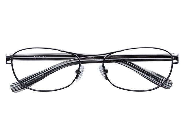 メガネ 度付き/度なし/伊達メガネ スコレー(SKHOLE) 金子眼鏡 メタルフレーム ツーブリッジ ティアドロップ ブラック メガネセット SK6044-2【薄型レンズ付】【送料無料】