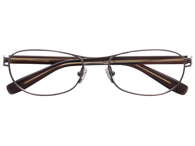 メガネ 度付き/度なし/伊達メガネ スコレー(SKHOLE) 金子眼鏡 メタルフレーム ツーブリッジ ティアドロップ ブラウン メガネセット SK6044-3【薄型レンズ付】【送料無料】
