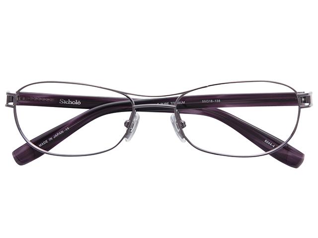 メガネ 度付き/度なし/伊達メガネ スコレー(SKHOLE) 金子眼鏡 メタルフレーム ツーブリッジ ティアドロップ グレー メガネセット SK6044-4【薄型レンズ付】【送料無料】