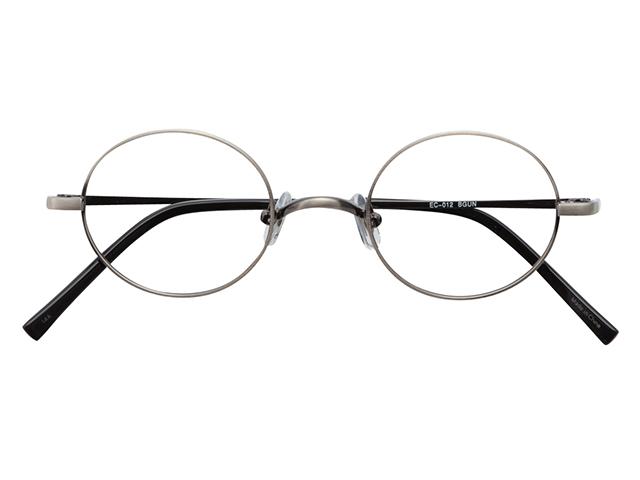 丸メガネ 丸眼鏡 丸めがね メガネ 度付き/度なし/伊達メガネ メタルフレーム ラウンド ガンメタリック メガネセット EC012-BGUN【金子眼鏡】【薄型レンズ付】【ケース付】【送料無料】